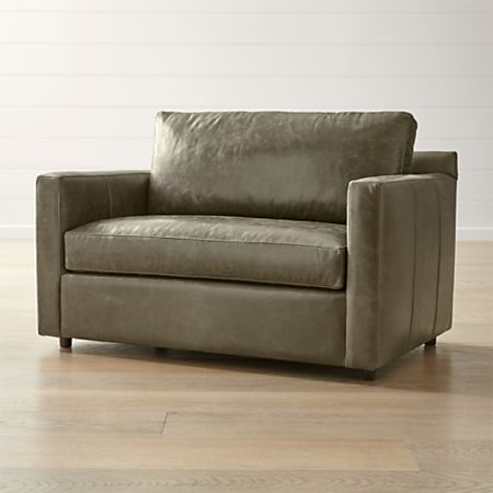 Barrett Leather Track Arm Chair and a Half + Reviews | Crate and .