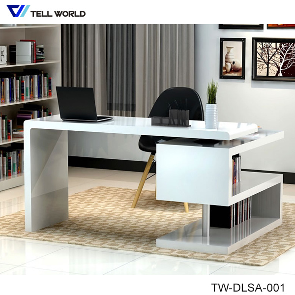 China Modern White Corian Acrylic Solid Surface Study Table Office .