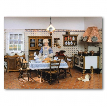 Complete set – Antique kitchen with stove-402