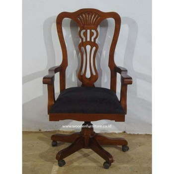 Antique Reproduction Office Chair Wooden Office Furniture - Buy .