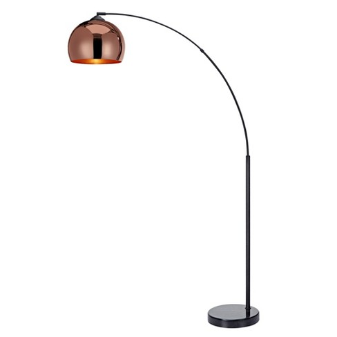 Versanora - Arquer Arc Floor Lamp With Rose Gold Finished Shade .