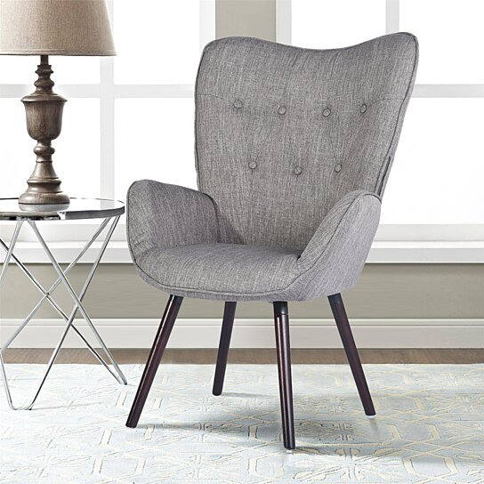 Buy Side Chair Living Room Armchair Accent Chair Wing Chair Button .