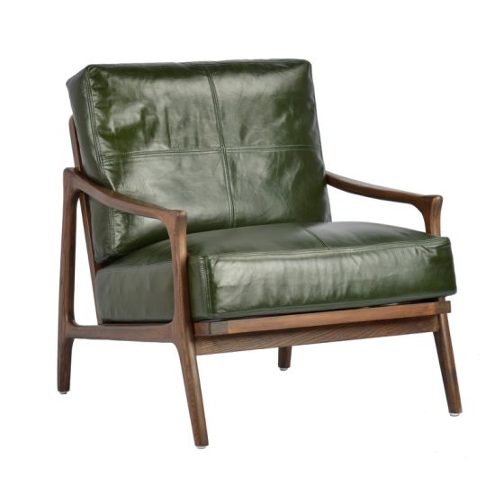 China Modern Green Leather Armchair - China Leather Armchair .