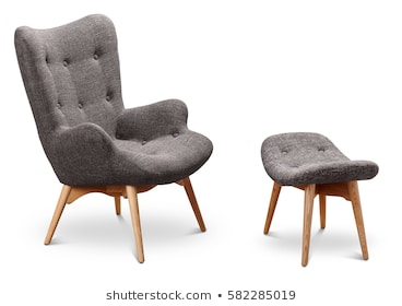 Gray Color Armchair Small Chair Legs Stock Photo (Edit Now) 5822850