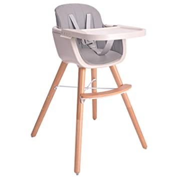Amazon.com : Baby High Chair, 3 in 1 Wooden High Chair with .