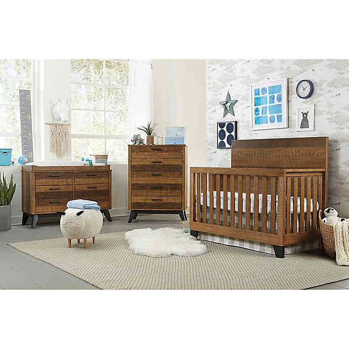 Westwood Design Urban Rustic Nursery Furniture Collection in Wheat .