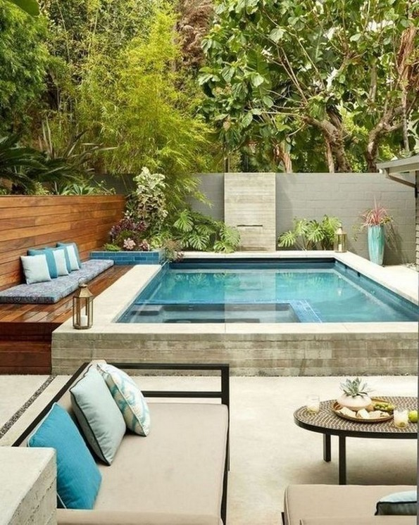 19+ Small Backyard Designs with Swimming Pool That You'll Love .
