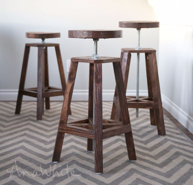 15 Amazing DIY Bar Stool Ideas You Should Check Out Right N