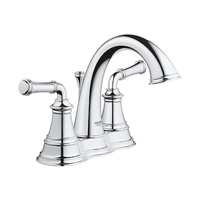 GROHE Gloucester Chrome 2-Handle 4-in Centerset WaterSense .