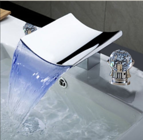 On Sale Large Selection! New Luxury LED Crystal Handle Waterfall .
