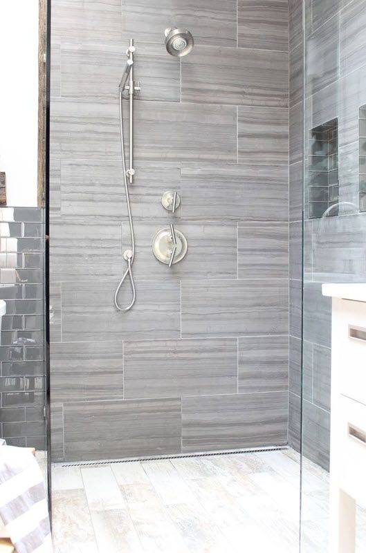 40 gray shower tile ideas and pictures … | Grey bathroom tiles .