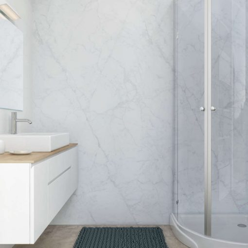 Large marble effect pvc wall pane