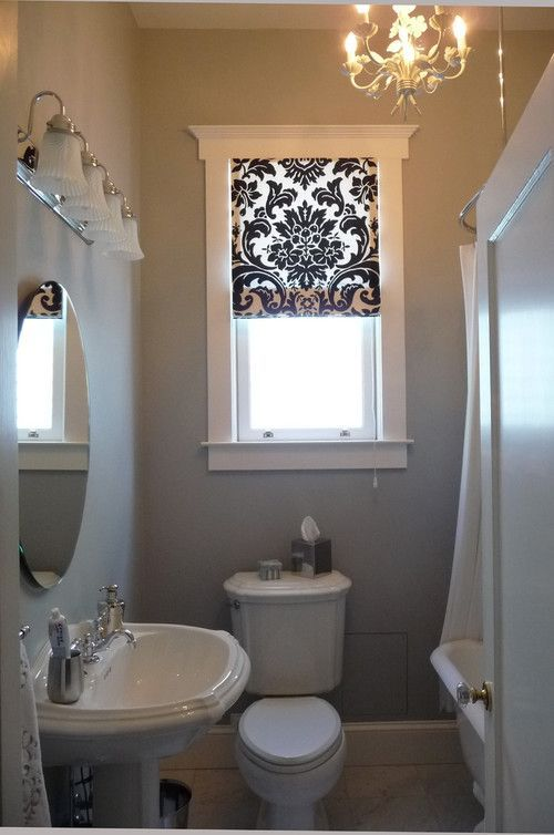 What type of bathroom window curtain designs looks good? | Small .