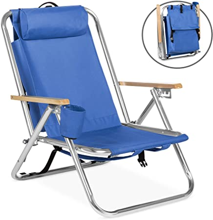 Amazon.com : Best Choice Products Portable Folding Backpack Chair .
