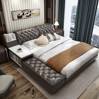 New Arrival Bed Frame American Style Modern Soft Beds With Storage .