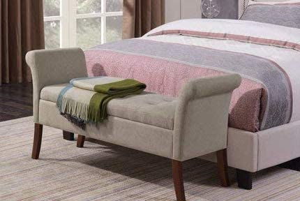 Amazon.com: End of Bed Storage Bench-Bedroom Benches at Foot of .