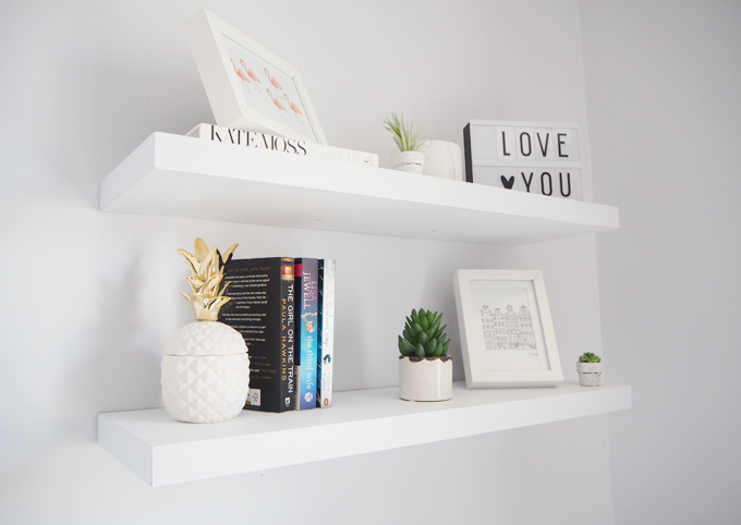 Bedroom Makeover with Rinkit & Tips for Styling Shelves - Made Up .