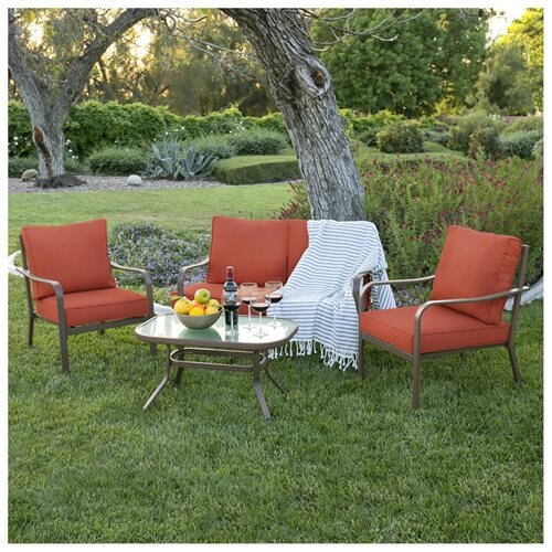 BestChoiceProducts: Best Choice Products 4 Piece Cushioned Patio .