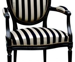 black and white striped chair. gonna do one of these, too. (With .