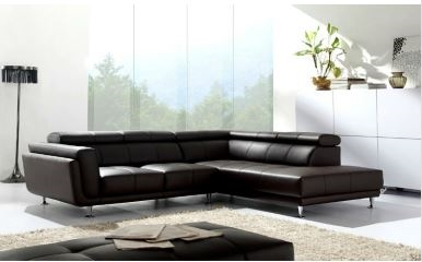 Black Leather Sectional   Sectional Sofa with Chaise   L shaped .