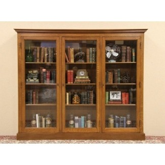 Wooden Bookcases With Glass Doors - Ideas on Fot