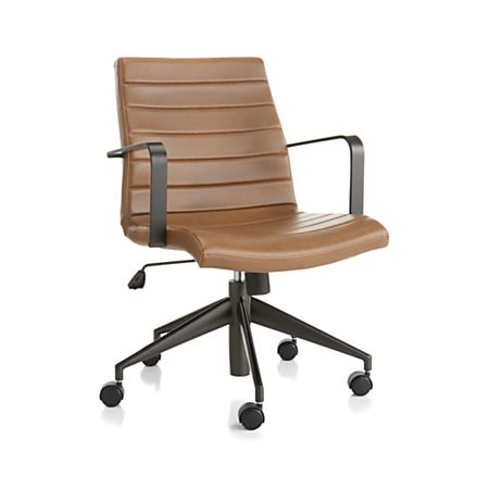 Graham Brown Leather Desk Chair + Reviews | Crate and Barr