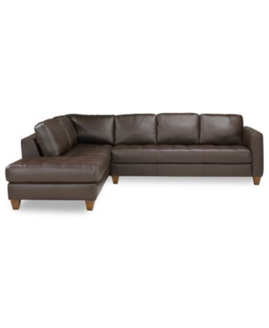 Milano Leather 2-Piece Chaise Sectional Sofa - Furniture - Macy's .