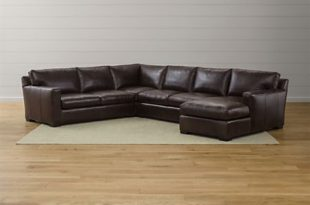 Axis II Brown Leather Sectional Sofa | Crate and Barr