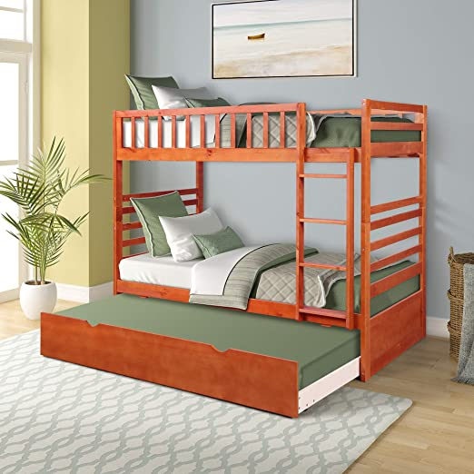 Amazon.com: Merax Twin Bunk Beds for Kids Twin Over Full Bunk Beds .