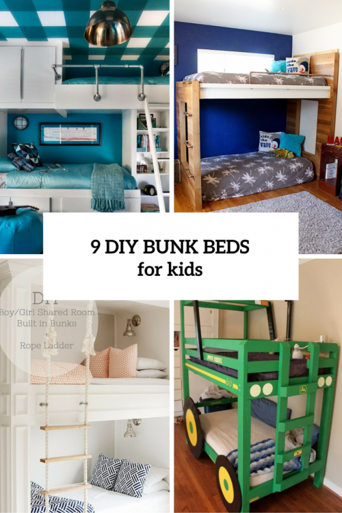 9 Functional And Creative DIY Bunk Beds For Kids - Shelterne