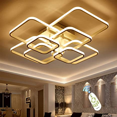 LED Ceiling Light Fixture with Remote Control, Chandelier Modern .