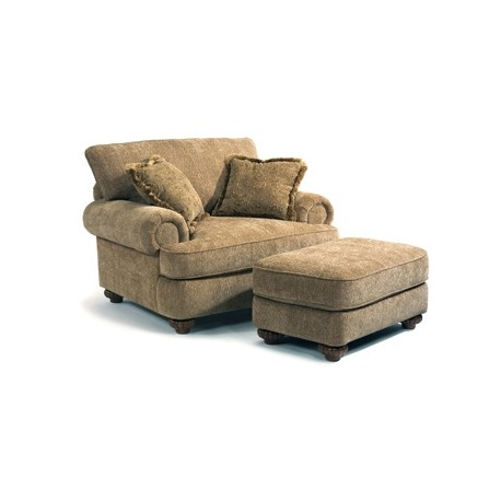 Patterson Fabric Chair & Ottoman - Kirk's Furniture and Mattress .