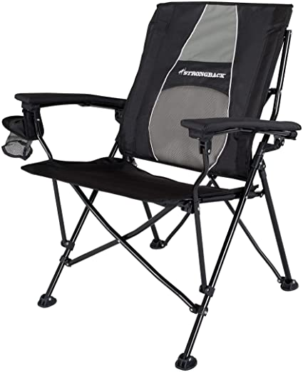 Amazon.com : STRONGBACK Elite Folding Camping Chair with Lumbar .