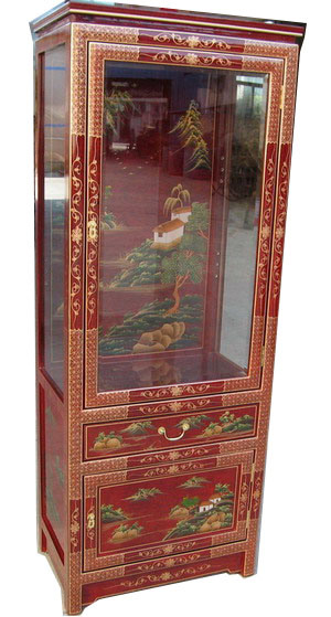 Classic Antique Chinese Furniture Oriental Glass Cabinet - China .