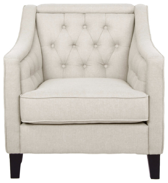 Vienna Classic Retro Beige Fabric Upholstered Button-Tufted .