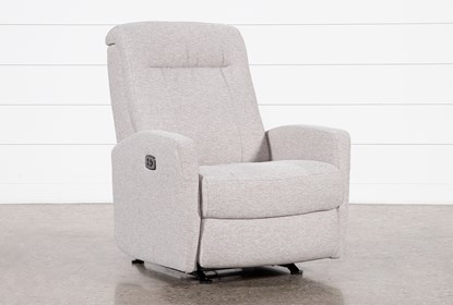 Dale IV Fabric Power Rocker Recliner With Power Headrest | Living .