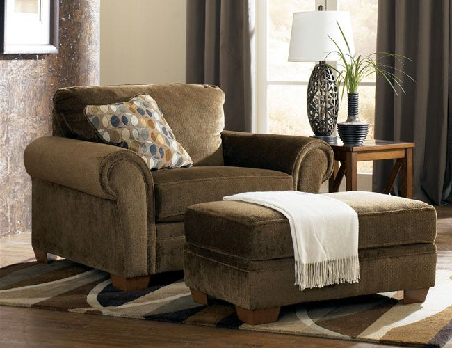 Oversized Chair and Ottoman | Oversized chair and ottoman .