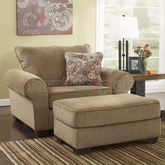 My Comfy Reading Chair & Ottoman. Galand Umber from Ashley .