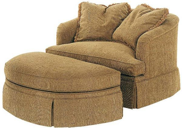 round chair and a half comfy | Chair and a half with ottoman! or .