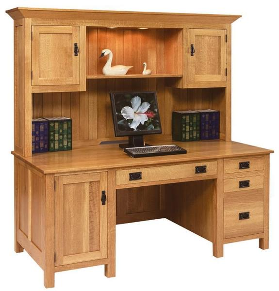 Mission Style Solid Wood Computer Desk by DutchCrafters Ami