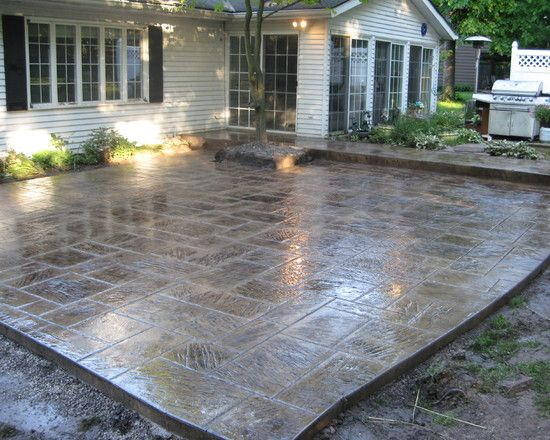 stain, Patio Stamped Concrete Design, Pictures, Remodel, Decor and .