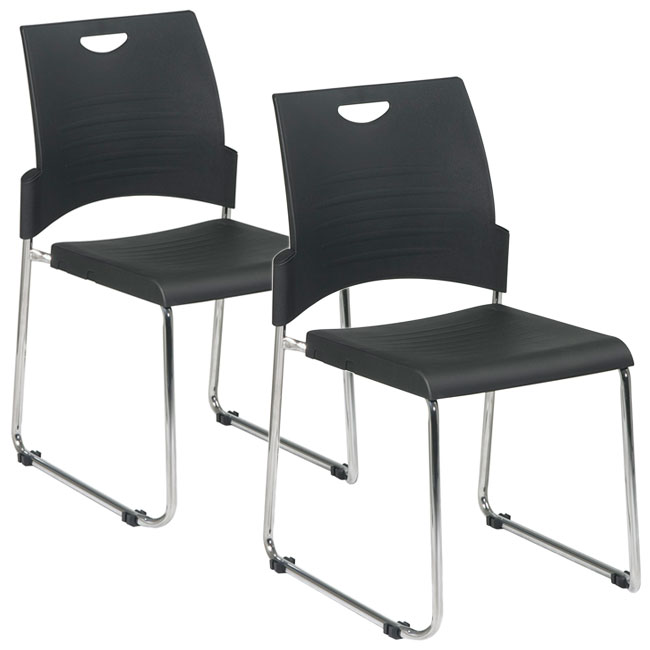 Office Star Sled Base Stack Chair - Stc8302c2-3 | Guest Chairs And .