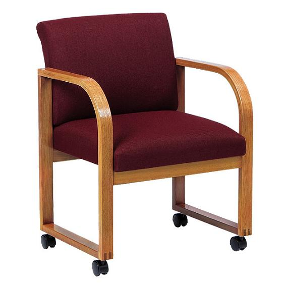 Lesro Contour Series Full Back Conference Chair - Standard Fabric .