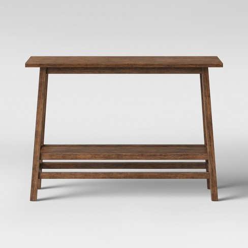 Haverhill Reclaimed Wood Console Table With Shelf - Threshold .