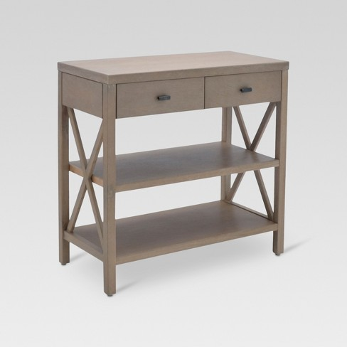Owings Console Table With 2 Shelves And Drawers Rustic - Threshold .