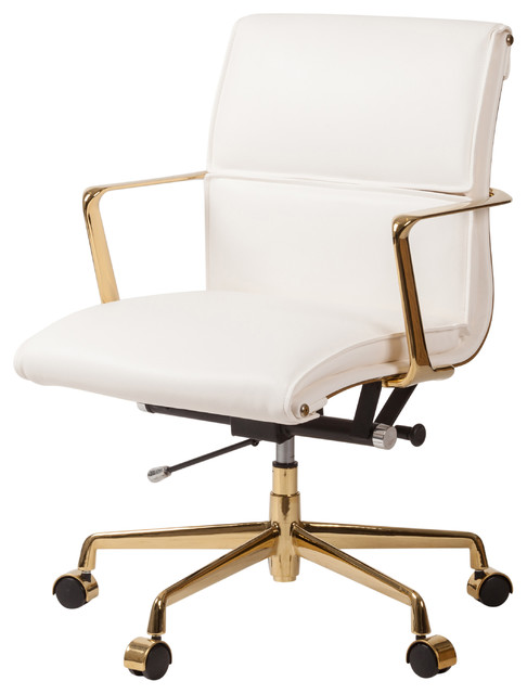 Cooper Modern Office Chair with Gold Base - Contemporary - Office .
