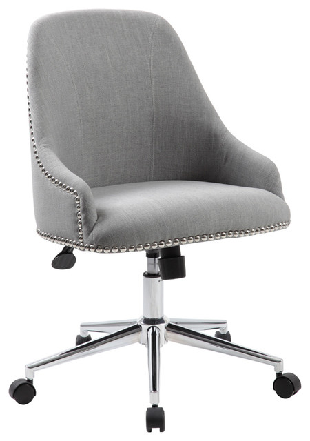 Boss Office Carnegie Desk Chair in Gray - Contemporary - Office .