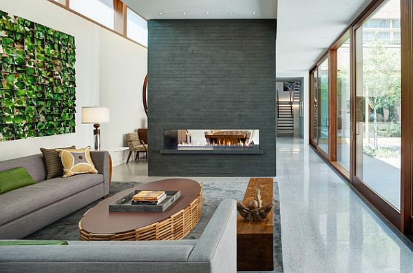 34 Modern Fireplace Designs With Glass For The Contemporary Ho