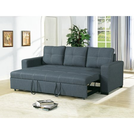 Convertible Sofa Bed Bobkona Living Room Sofa w Pull out Bed .