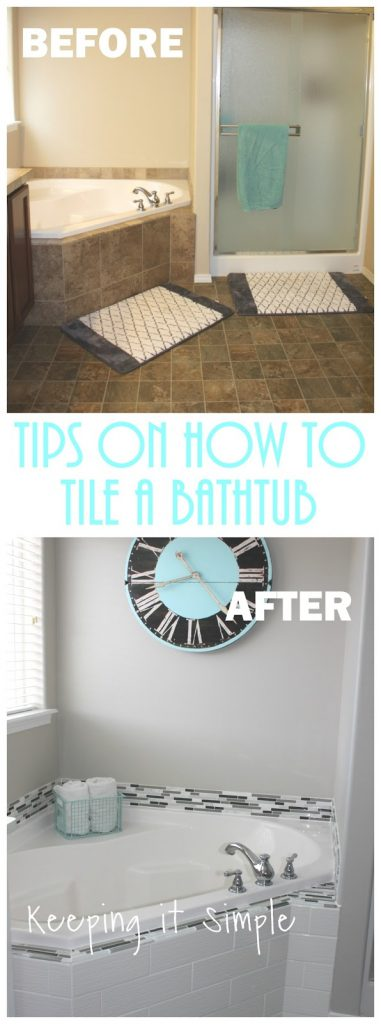 Tips on How to Tile a Corner Bathtub using Wavecrest and Venatino .